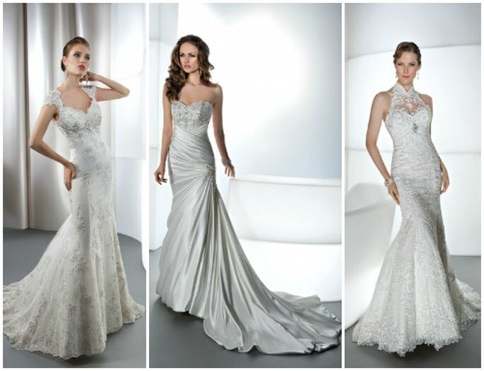 Trois modèles coupe sirène. Demetrios 2013 Bridal. Photo: www.demetriosbride.com