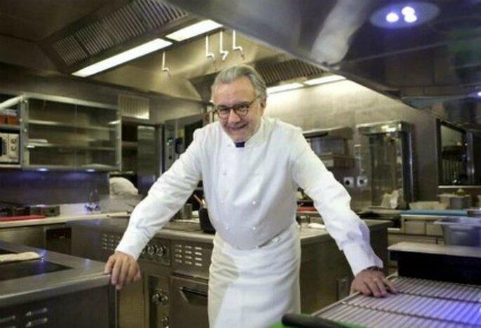 El chef Alain Ducasse preparó el menú
