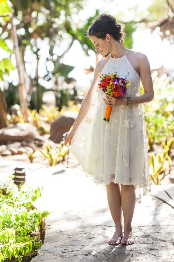 Estilismo perfecto para tu boda civil - Foto A Brit and a Blonde