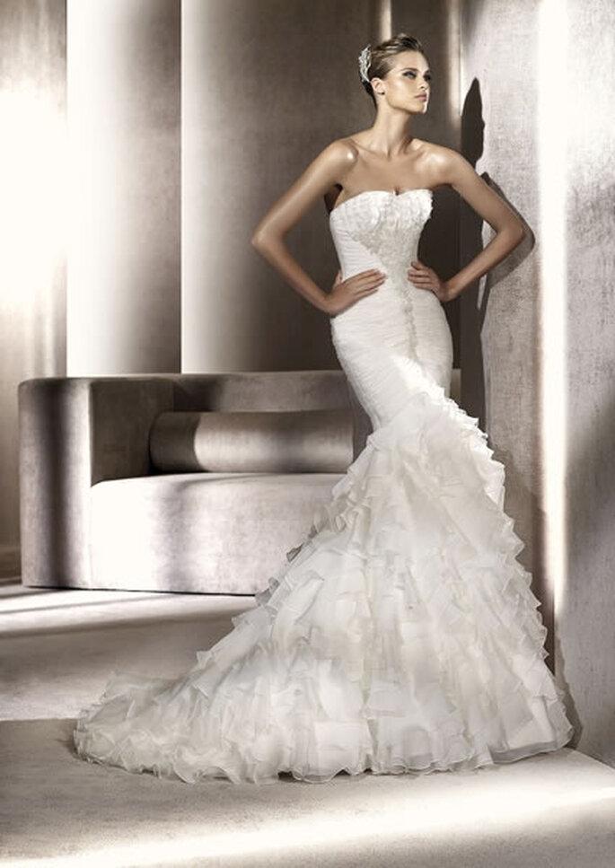 Vestido de novia con corsé. Piamonte de Pronovias