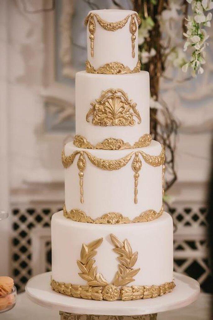 Wedding cake baroque. Crédit : Paradis Gourmandise