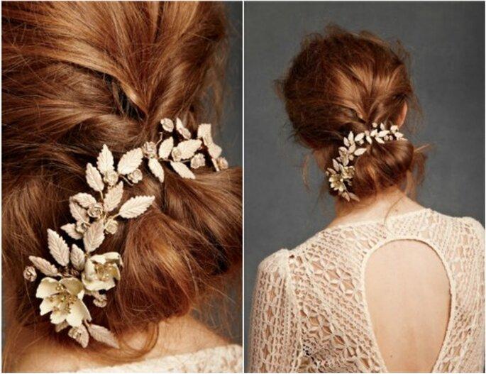 Braut mit Hochsteckfrisur - Foto: BHLDN