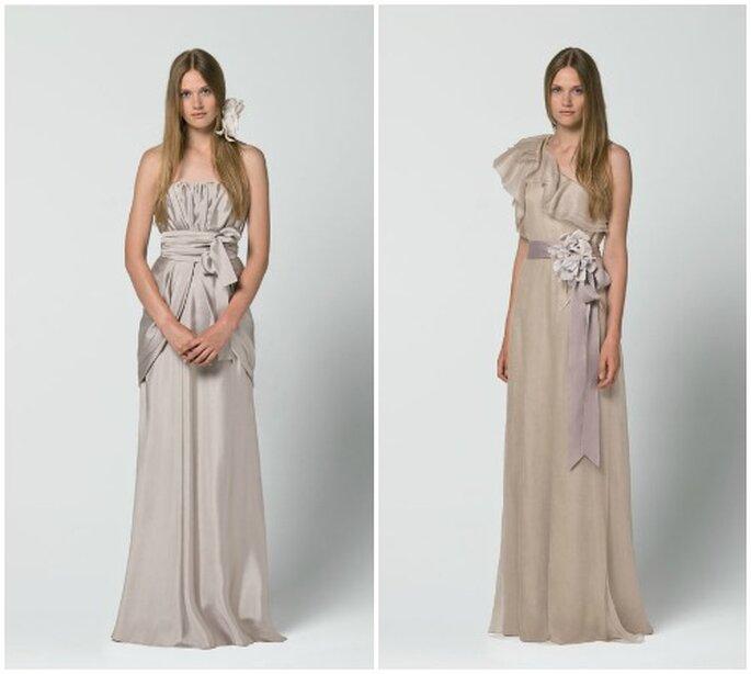Due idee color mauve per una sposa semplice ma di classe. Max Mara 2013 Bridal Collection. Foto: www.maxmara.com