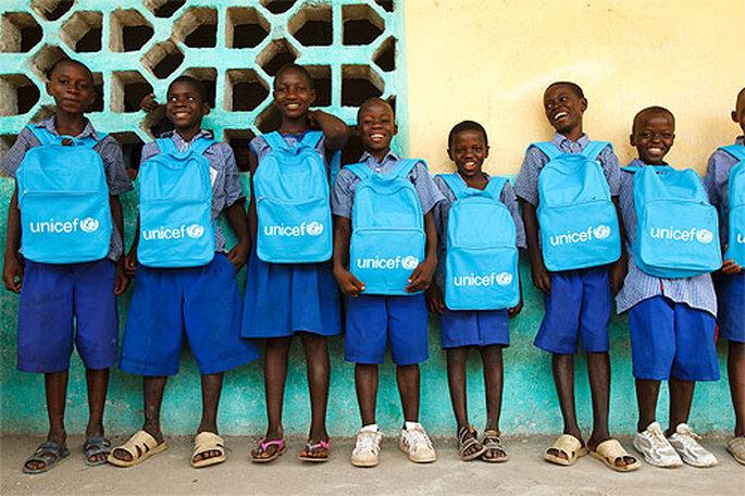 Con el Regalo Azul de UNICEF ayudas a construir un mundo mejor. Foto: UNICEF