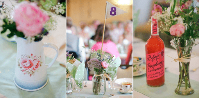 Decoración vintage en la recepción de boda - Foto Nadia Meli