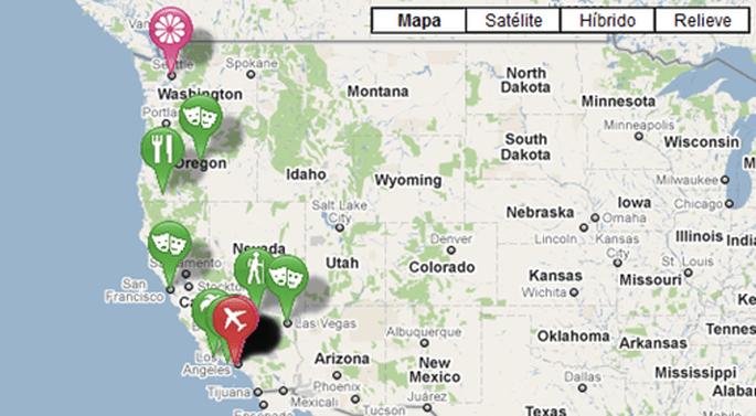 Il vostro viaggio di nozze in una mappa