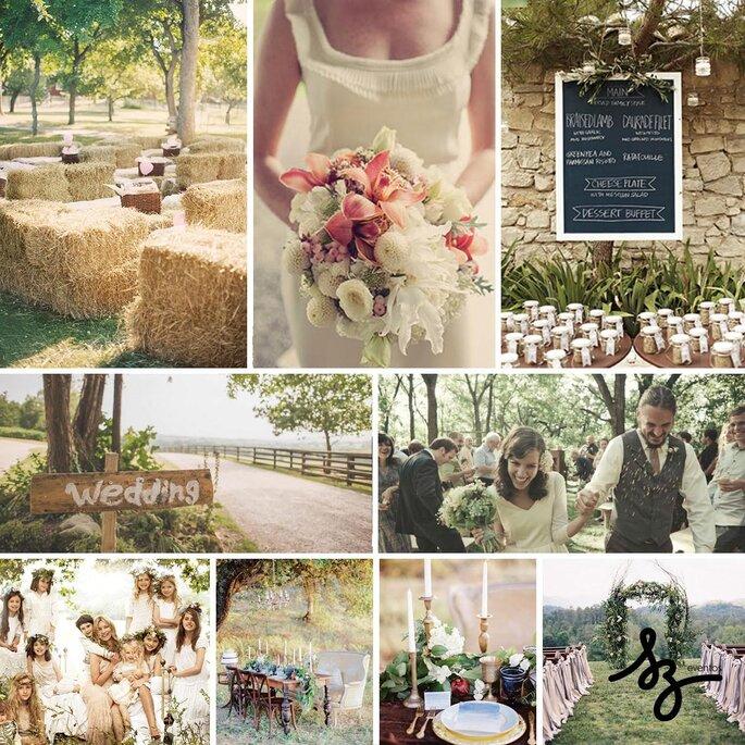 Cómo tener una boda estilo country side