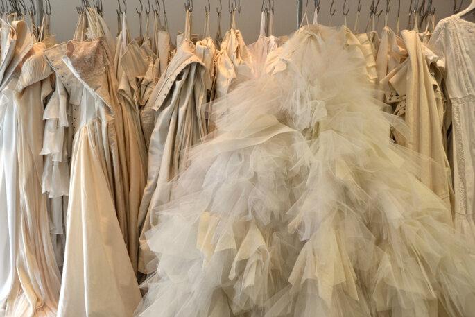 Los más de 90 modelos de vestidos de novia. Foto: Ana Jiménez.