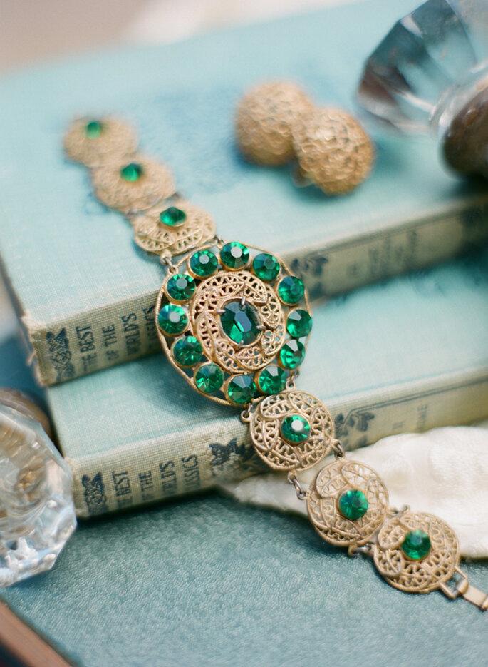 Color esmeralda para la decoración de boda - Beaux Arts Photographie