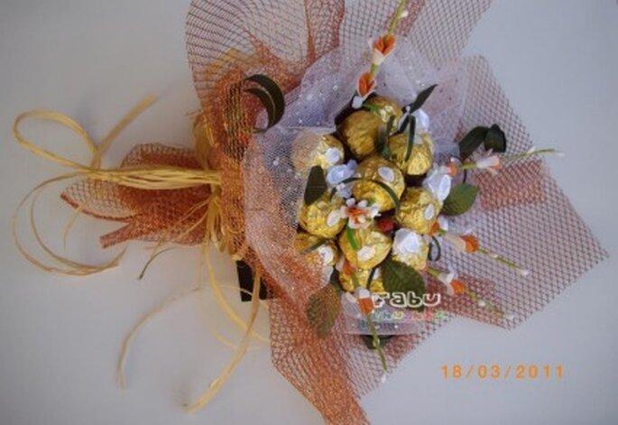 Ramo de novia Ferrero Rocher - Fabu Chuches