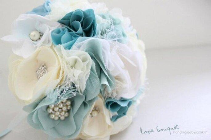 Brautsträuße, handgemacht aus Filz sehen besonders originell aus und sind noch dazu von Dauer – Foto: Sara Kim