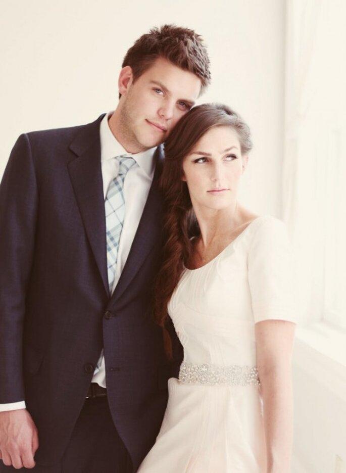 Cómo peinar mi fleco el día de la boda - Foto Jessica Janae Photography