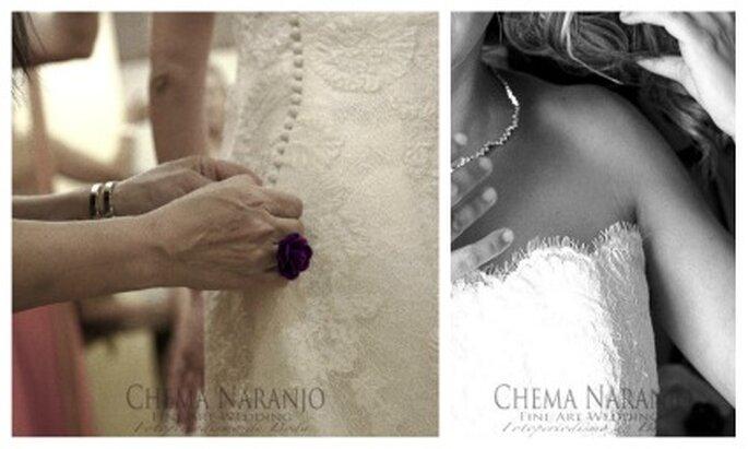La novia vistiéndose antes de la boda - Fotografía: Chema Naranjo
