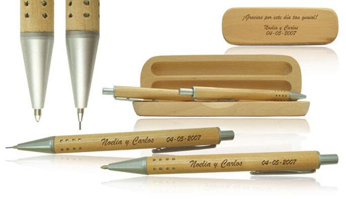 Set de bolígrafo y portaminas como detalle de boda
