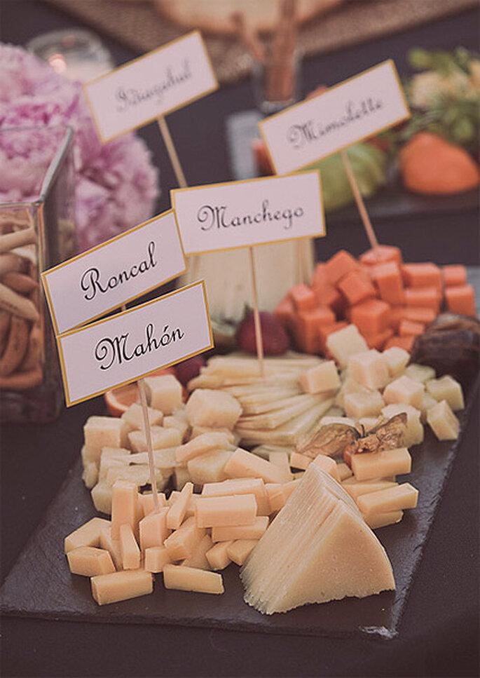 Uno dei piatti del matrmonio all'americana: formaggi artigianali. Foto: Adrián Tomadín