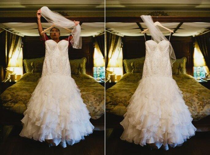 Vestido de novia. Foto de Alexandra Roberts.