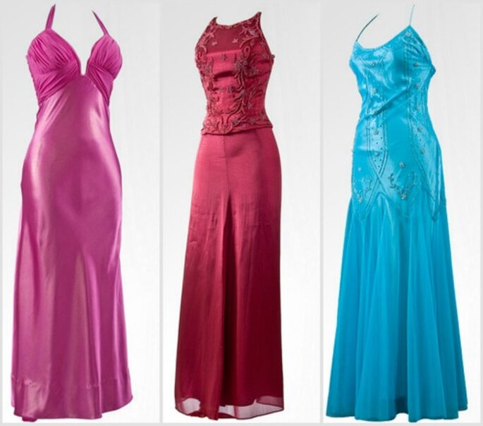 Elegantes vestidos largos de diferentes colores. Fotos: Alexis Vargas