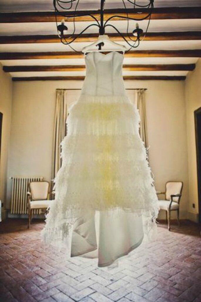 Pas toujours facile de trouver la robe de mariée de ses rêves... - Crédit photo : Fran Russo