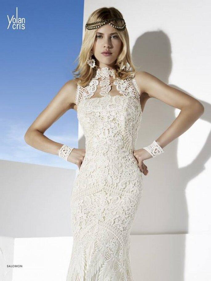Cadenas para peinado de novia como tendencia 2014 - Foto YolanCris
