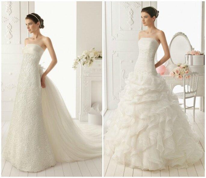 Due proposte eleganti e glamour per la sposa del 2013. Foto: www.airebarcelona.es