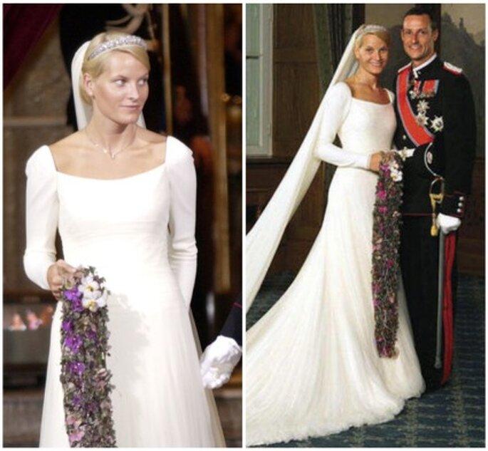 Vestido de novia de Mette Marit de Noruega