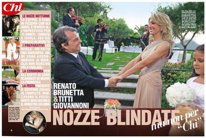 Nozze blindate per Brunetta e Giovannoni, coem recita Chi