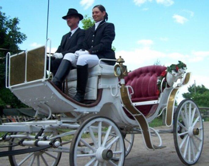 Hochzeitskutsche mieten. Foto: www.die-hochzeitskutsche.de