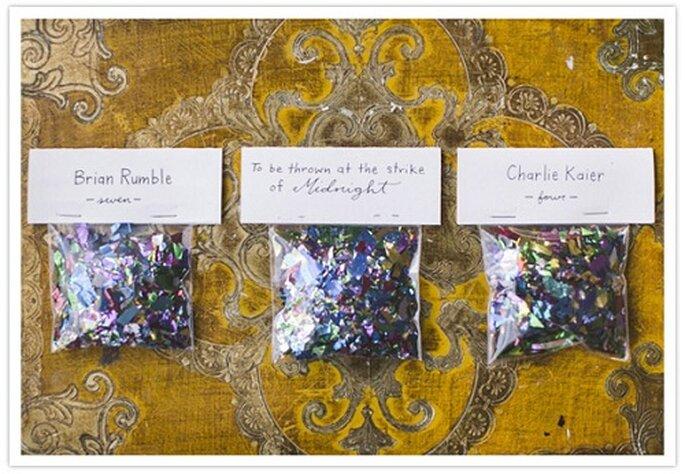Confetti para boda. Foto de Hello Love Photography.