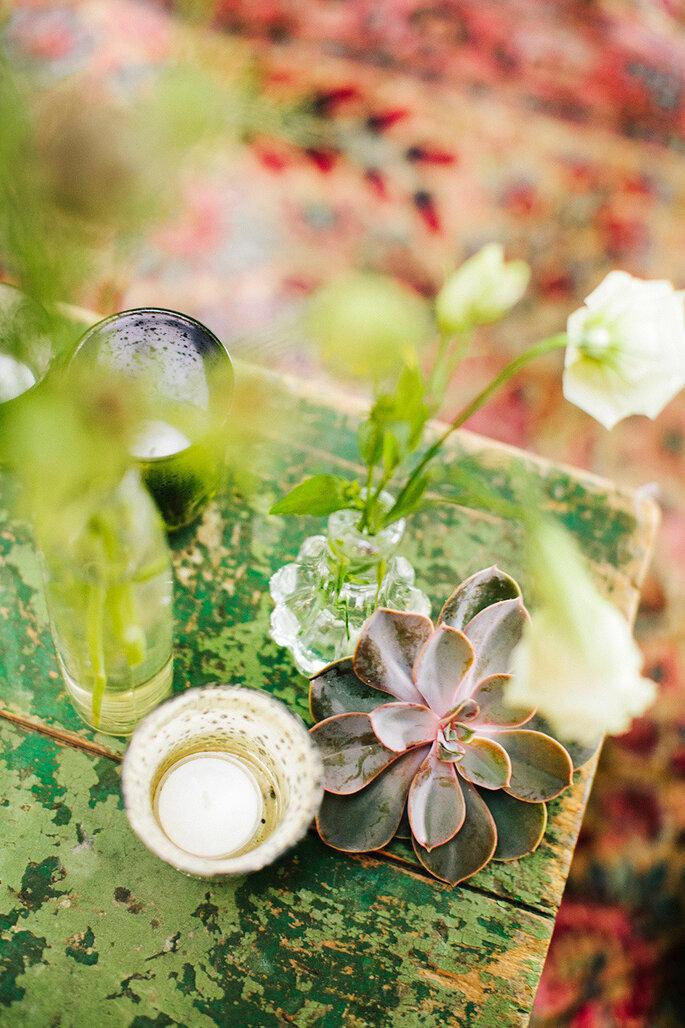 Incorpora suculentas a l decoración - Millie Holloman Photography