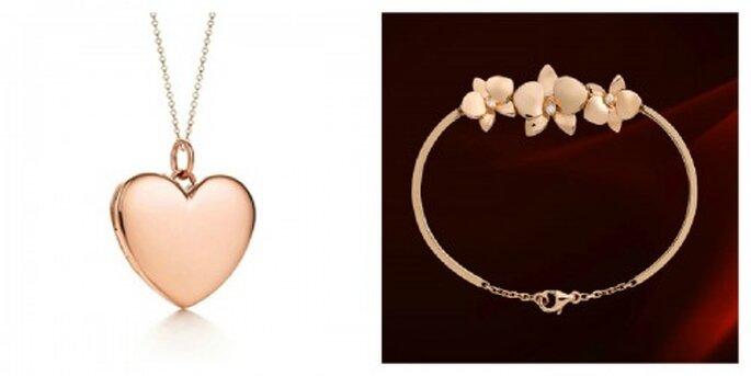 Romantisch in Rosé Gold gehaltenen Schmuck – Foto: catier, tiffany