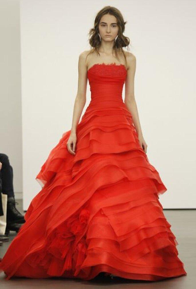 Robe de mariée rouge Vera Wang 2013
