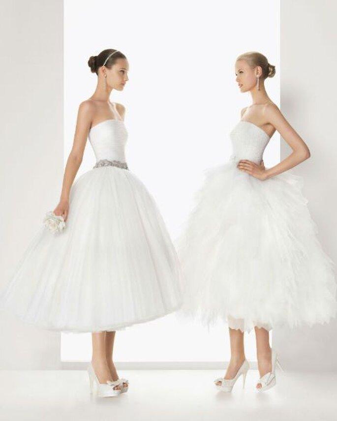 Vestidos de novia cortos y con las siluetas que mejor te favorezcan - Foto Rosa Clará