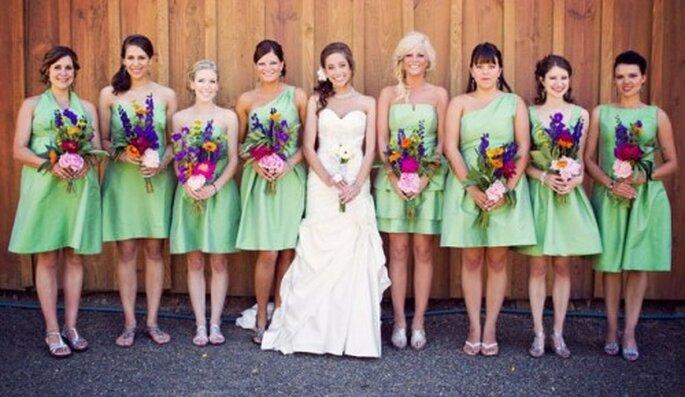 Damas de honor - Fotos: Green Wedding Shoes