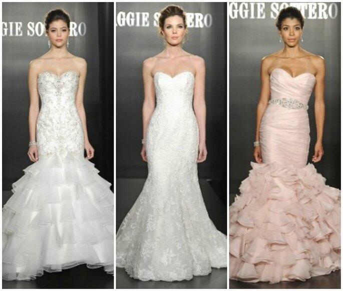 La robe de mariée coupe sirène est parfaite pour une fiancée sophistiquée. Photo www.maggiesottero.com