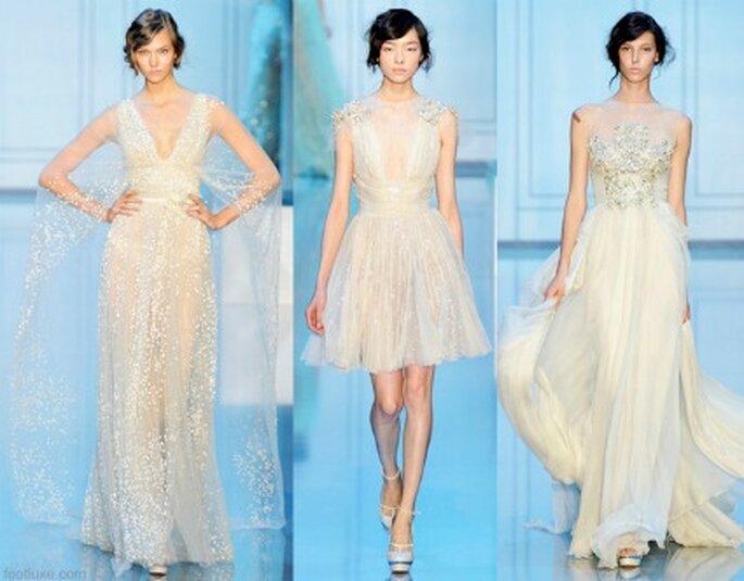 Tre stupendi modelli della Collezione Haute Couture 2011-2012 di Elie Saab