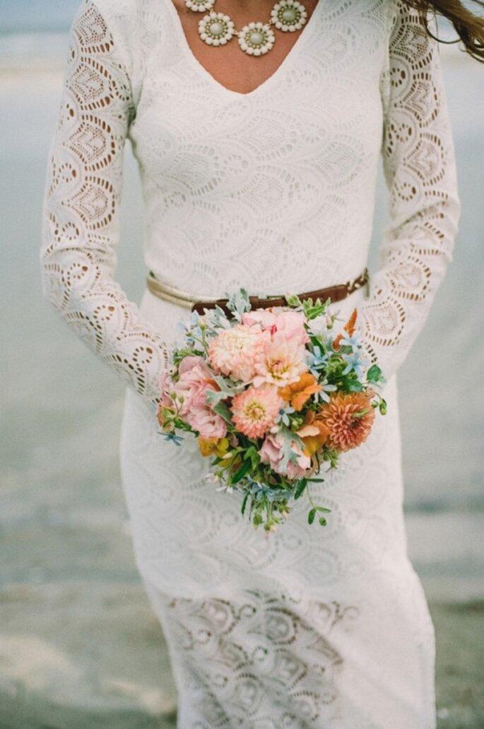 El boom de las novias boho chic - Foto Lauren Fair Photography