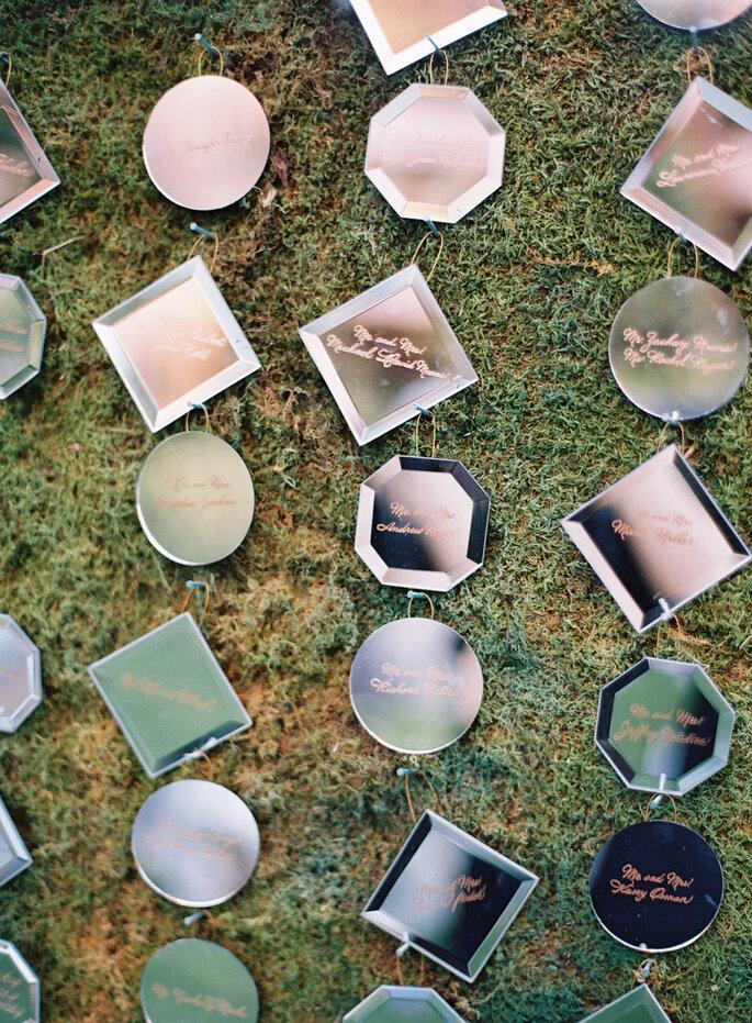 Espejos para la decoración de tu boda - Kat Braman Photography