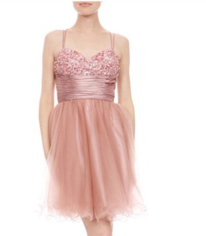 Robe de cocktail rose Faust - BrandAlley