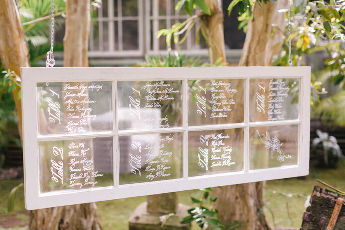 Ideas originales en seating charts - Jana Williams Photography