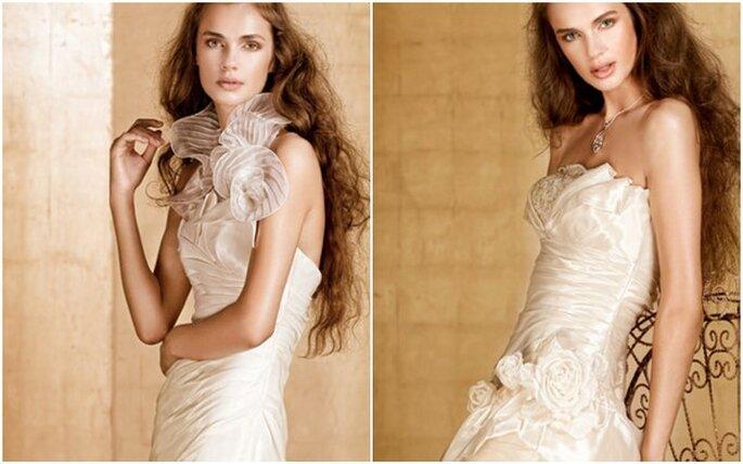 Vestidos de novia 2012 con organza y preciosos bordados