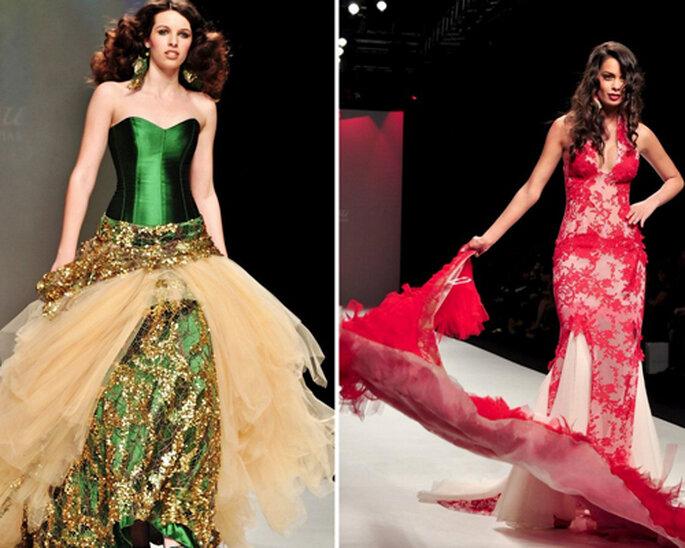 Vestidos de novia 2013 en colores brillantes - Foto: Jordi Dalmau 2013