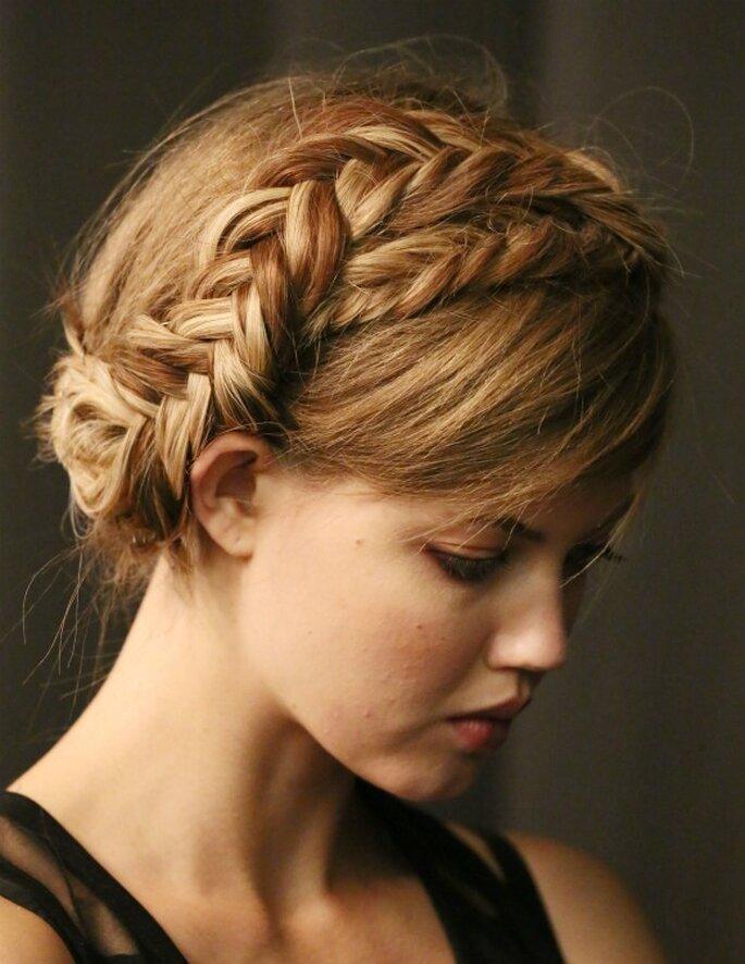 Las trenzas, el peinado must para las novias con estilo - Foto Tresemmé para Rebecca Minkoff