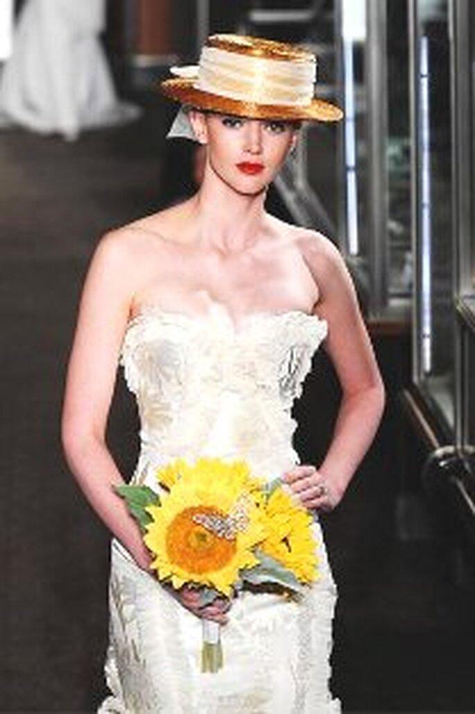 Carolina Herrera 2010 - Vestido largo en jacquard, strappless