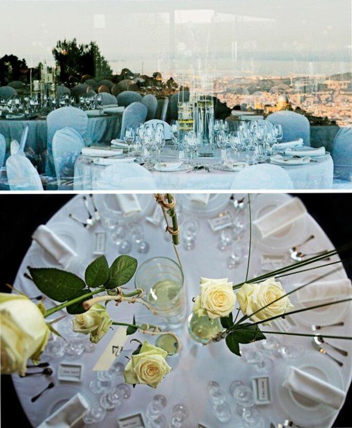 Elegante decoración de boda con detalles minimalistas - Foto Rosa Clará