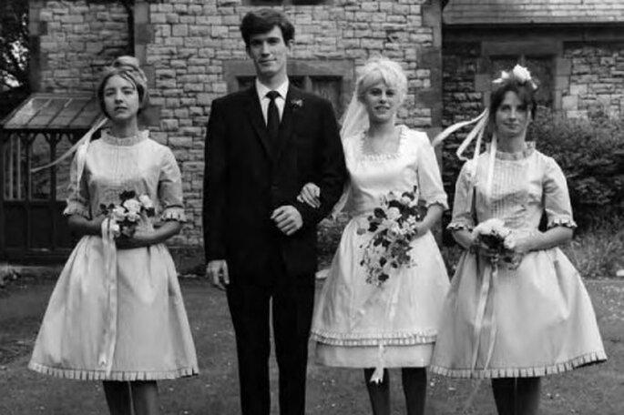Boda de la joyera Wendy Ramshaw en 1962. Foto: The Wedding Dress.