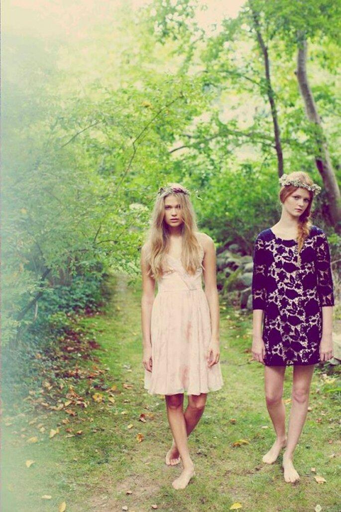 Vestidos de fiesta románticos y con siluetas holgadas - Foto Erin Fetherston