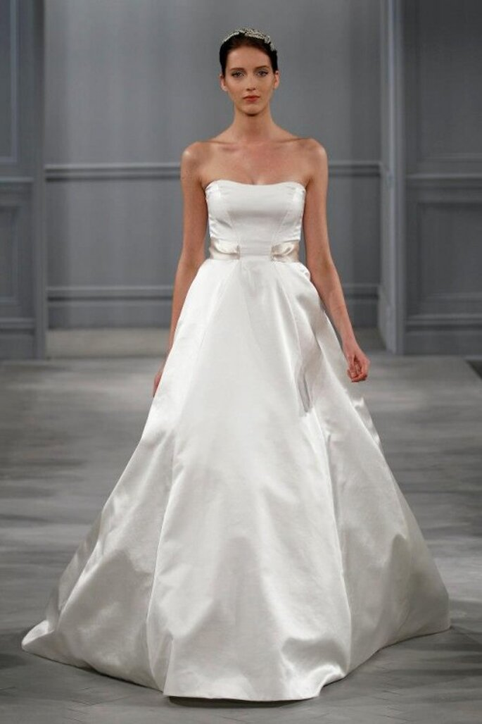 Vestido de novia elegante y simple corte sirena - Foto Monique Lhuillier