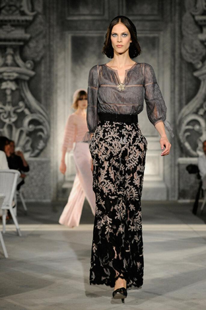 Herbstliche Eleganz: Lange Röcke und Blusen von Chanel  sorgen für einen modischen Auftritt – Foto: Chanel Otoño Invierno 2013