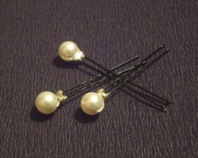 Pic à cheveux Boule - Nuage de Perles