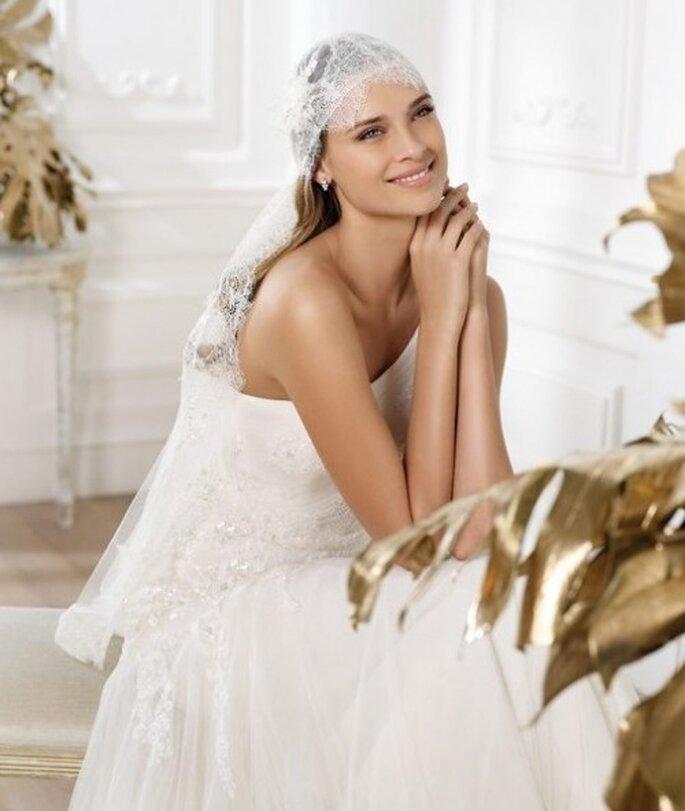 "Voile de mariée style ""pirate"" Pronovias 2014"